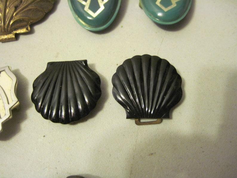 Lot of Vintage art deco Shoe Clips