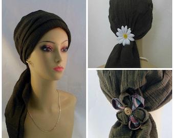 Gauze Scarf Turbans