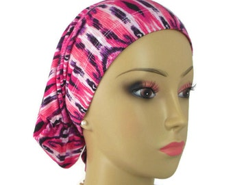 Jersey Hair Snood Turban Chemo Headwear, Cancer Patient Hat, Hair Covering, Tichel & Mitpachat Head Wrap, Beach Head Wear Reg-XL