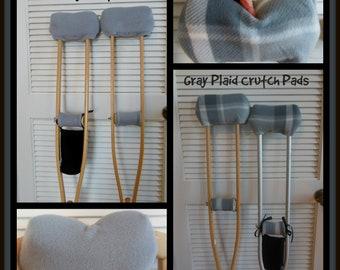 Light Gray Fleece Crutch Pad,Silver Crutch Wrap,Crutch Phone Tote Bag,Cast Sock,Cast Sock