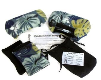 Fleece Padded Crutch Wraps & Hand Grip, Crutch Phone Tote Bag, Toe Warmer Bootie