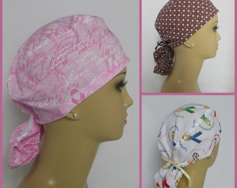 Surgical Scrub Caps: Supports Cancer Scrub Hats, Nurse Graduation Gift, Chemo Headwear
