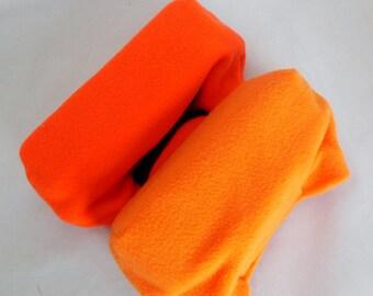 Orange Fleece Crutch Pad, Crutch Phone Tote Bag, Cast Sock Toe Warmer Bootie Stops Pain