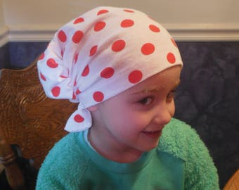 Child Hair Snood Turban, Jersey Chemo Headwear Patient Hat, Girl Alopecia Hair Cover