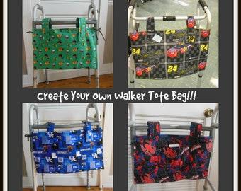 Custom Made Walker Tote Bag, Team Sport, Cartoon Character, Collegiate Walker Bags