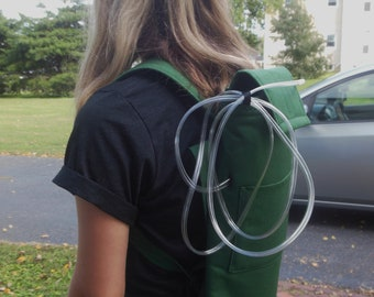 "Green Nylon Oxygen Tank Backpack B & C Tank, Oxygen Tank Cover  Height15- 17"","