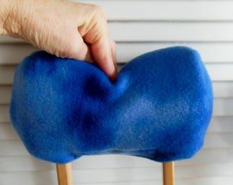 Blue Tie Dye Fleece Crutch Pads, Crutch Phone Tote, Toe Bootie Volleyball Cast Sock