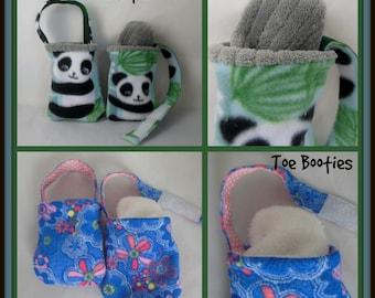 Toddler Fleece Foot Cast Toe Bootie, Printed Toe Warmer Sock