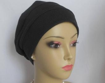 3-seam Cotton Knit Turban Interlocking Jersey Knit Chemo Headwear, Cancer Patient Hair Covering, Tichel Mitpachat Cap, Beach Cap, Alopecia