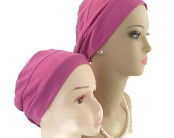 3-seam Gypsy Rose Child Adult Child Jersey Turban Jersey Knit Chemo Headwear,