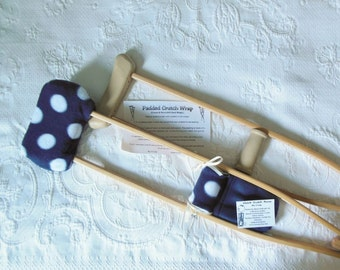 Fleece Crutch Pads Bold Cotton Balls Navy, Kids Crutch Cover, Crutch Phone  Tote Bag,