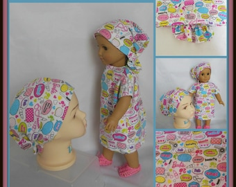 Girly Toddler Hair Snood Child, Alopecia Chemo Headwear, Cancer Patient Hat Hair Cover