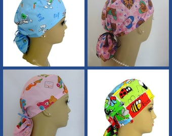 Pediatrics Scrub Cap: Nurse Graduation Gift, Surgical RN Scrub Hat, Chemo Headwear