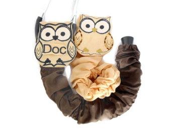 "Personalized Monogram Stethoscope Cover Owl, RN CNA Graduation Gift, Veterinarian Animal Stethoscope Cover, Machine Washable, Length 20"""