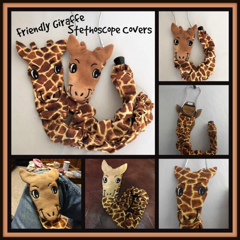 Giraffe Stethoscope Cover RN Graduation Gift  CNA Gift image 0