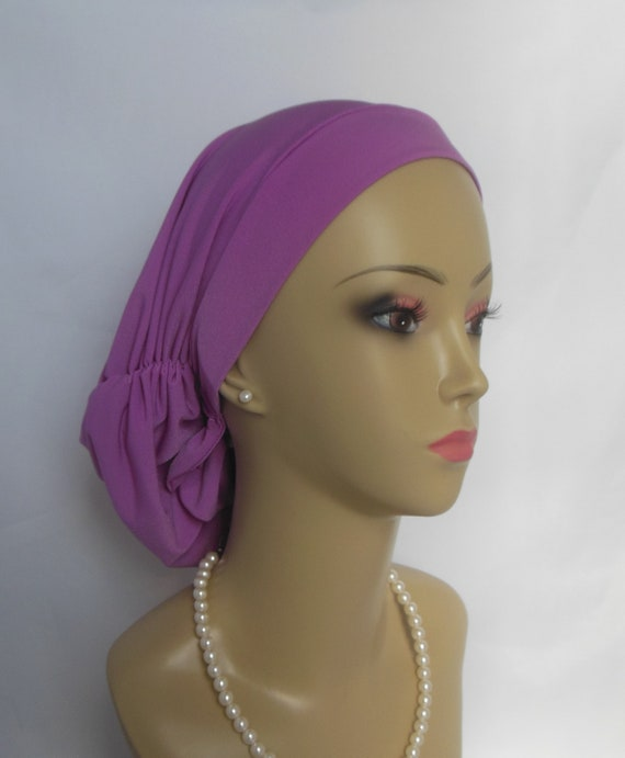 Satin Hair Snood Sweet Azalea Jersey Turban Teen Adult  9b5dd898ebc
