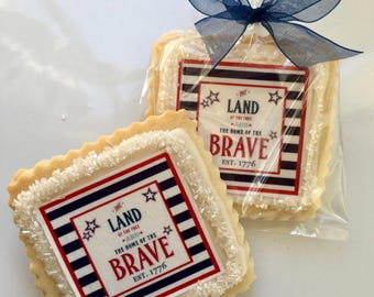 4th of july party favors wedding 4th of july shortbread cookie favor1 dozen july favors etsy
