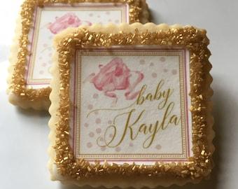 Custom Baby Shower Cookies- 1 dozen