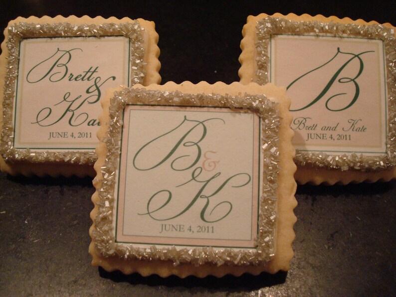 1 dozen Wedding Favors Custom Shortbread Cookies-