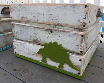 Large Dino Toy Storage Crate