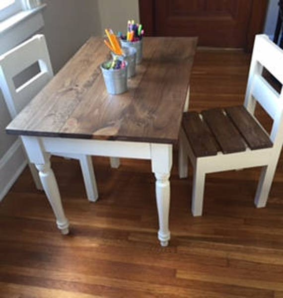 Children's Farmhouse Table and chairs sold | Etsy