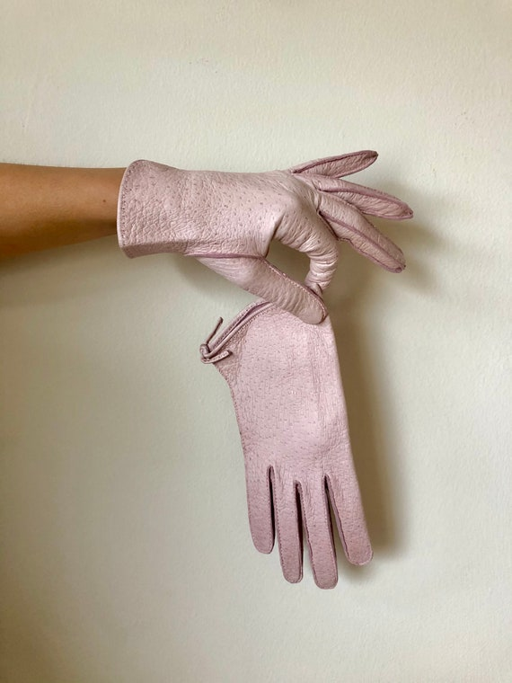 Vintage 1940s 1950s Claire McCardell pink peccary… - image 2