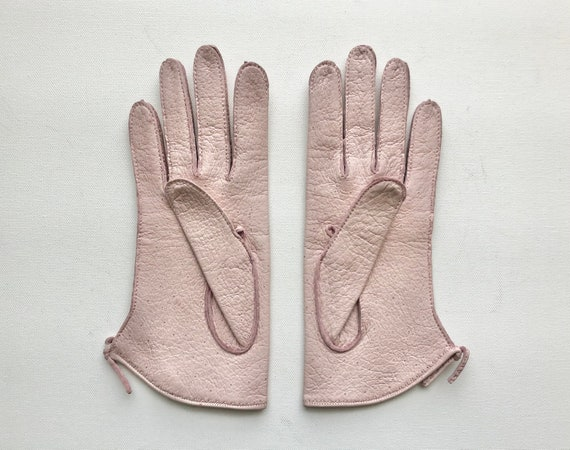 Vintage 1940s 1950s Claire McCardell pink peccary… - image 3