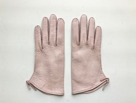 Vintage 1940s 1950s Claire McCardell pink peccary… - image 1