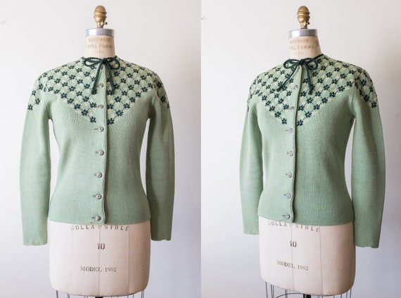 Vintage 1940s Catalina Button Up Sweater Size Smal