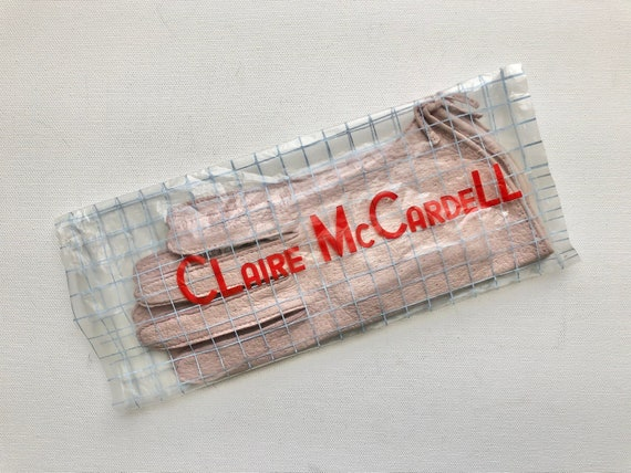 Vintage 1940s 1950s Claire McCardell pink peccary… - image 7