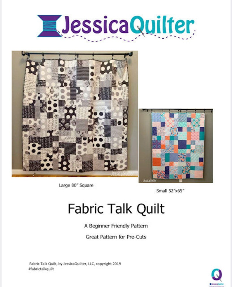 PDF Fabric Talk Quilt Pattern image 0