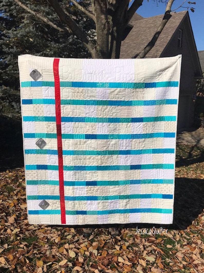 PDF Patchwork Paper Quilt Pattern image 0