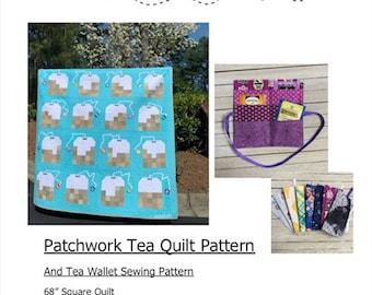 Patchwork Tea Quilt and Tea Wallet Patterns