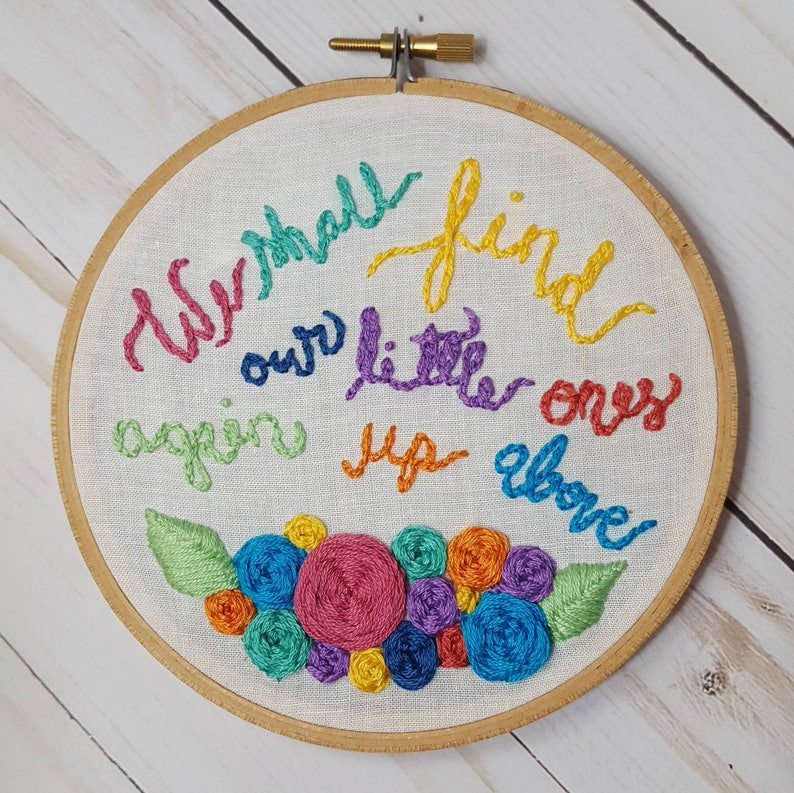 Miscarriage Infant Loss Embroidery We Shall Find Our Little image 0