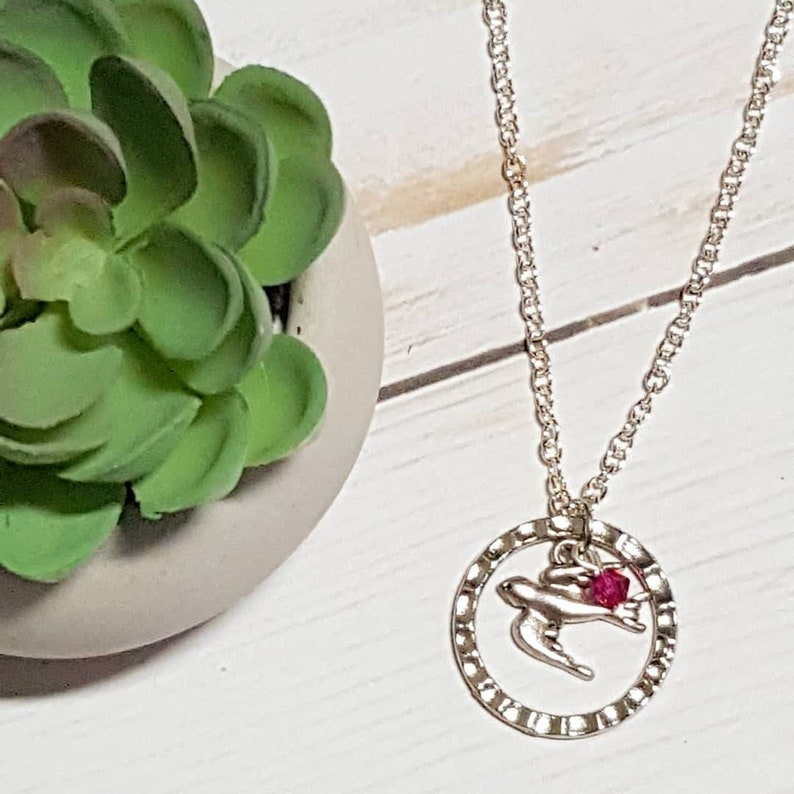 Holy Spirit Necklace Holy Ghost Dove Charm Confirmation Gift image 0