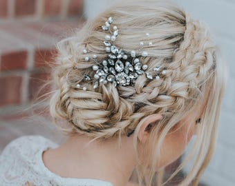 """Wedding Hair Accessories, Bridal Comb, Bridal Hair Accessories, Bridal Headpiece ~ """"Carmen"""" Medium Bridal Hair Comb in Silver or Gold"""