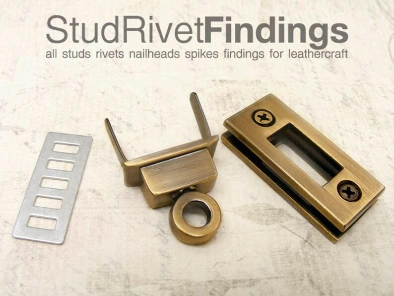 1pc 16 x 35mm REGTANGULAR Purse twist lock  clutch lock latch lock  latch  clutch purse lock