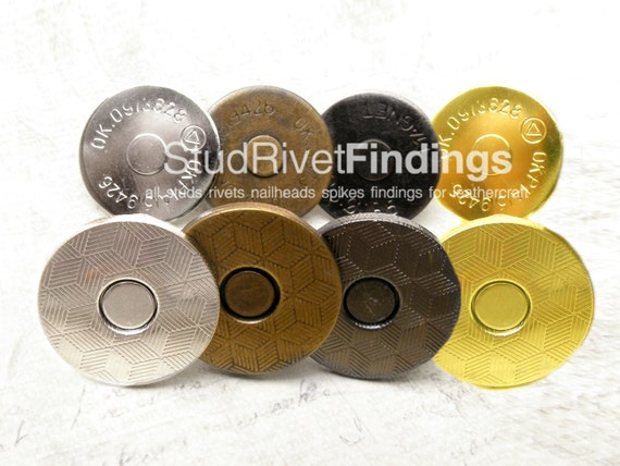 High Qaulity 10sets 14mm Magnetic Snap Closure  Extra Thin without pattern