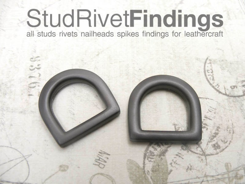 12mm Clasps Hook RingHigh Quality inside ZINC D-ring Purse Hardware Finding for Purse Ring 4pcs MATTE GREY 10mm