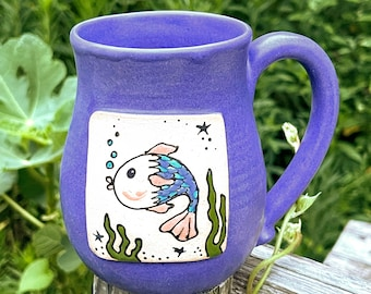Here Fishy, Fishy Mug