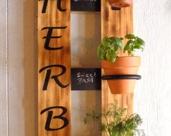 Hanging Herb Garden, rustic herb garden