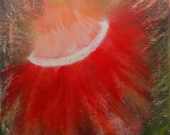 "Original Abstract Acrylic Painting ""Phoenix Flower"" 16x20 free shipping in US"