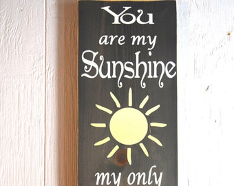 You are My Sunshine Sign, You are My Sunshine Wall Art, Nursery Wall Art