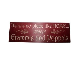 "Custom Sign. Personalized Sign, Grandparents Gift Painted Wooden Sign 7.25"" x 24"""