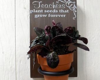 Teacher's Gift, Hanging plant holder, wall planter