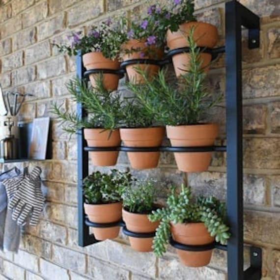 Hanging Planter Indoor Outdoor Herb Garden Hanging Herb Etsy