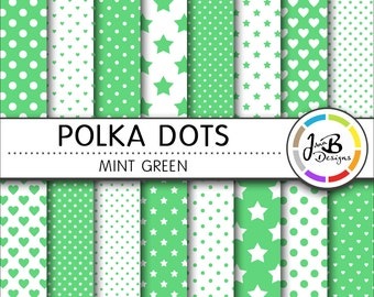 Polka Dots Digital Paper b84801adc5344
