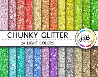 Glitter Digital Paper, Glitter Background, Glitter Paper, Scrapbook Paper, Chunky Glitter, Glitter, Glitter Texture, Glitter Digital, Light