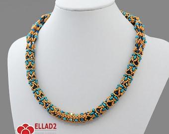 Tutorial Saga Necklace-Beading Tutorial,Beading Pattern, Instant download, Ellad2