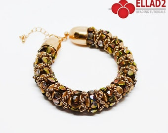 Tutorial Zola Bracelet-Beading Tutorial, Beading Pattern, Bracelet tutorial, Instant download, Ellad2